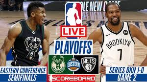 NBA LIVE : MILWAUKEE BUCKS VS BROOKLYN NETS GAME 2 | PLAYOFFS SCORE BOARD  STREAMING TODAY