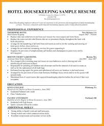 What Is A Resume For Job Housekeeping Sample Hotel Nanny Housekeeper