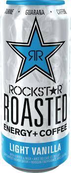 Rockstar Roasted Coffee Energy Light Vanilla Rockstar Roasted Energy Coffee Light Vanilla Caffeinated