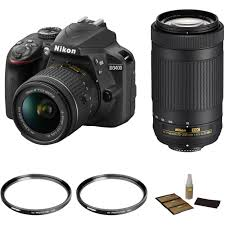 Nikon D3400 With 18 55mm And 70 300mm Lenses Basic Kit