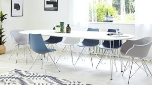 fascinating modern round dining table for 6 modern white satin oval extending dining table 6 inside
