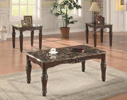 3 pc occasional table sets faux marble table