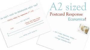 Response Cards Size A2 Postcard Response Weedings Wedding Response Cards