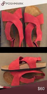 Comfortfusse Shoes Size Chart Comfortfusse Red Leather Sandals New Size 9 Pair Of