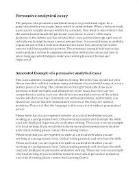 Examples Of Analysis Essay Critical Analysis Essay Example Paper
