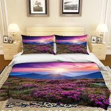 3d purple flower sea mmm161 duvet cover