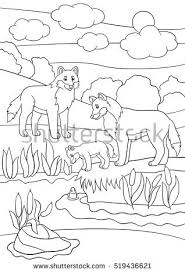 Small Picture Coloring Pages Animals Mother Alligator Looks Stock Vector