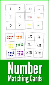 Printable Number Matching Cards
