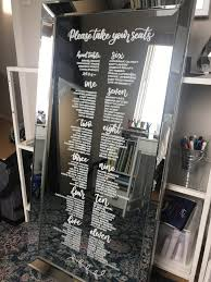 Mirror Wedding Seating Chart Elegant In Addition To Attractive Mirror Seating Chart