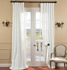 white vintage curtains for patio doors