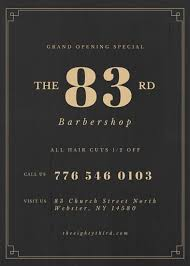 barber flyer barber shop promotional flyer templates by canva