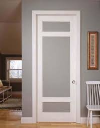 frosted glass interior doors reliabilt primed 1 panel solid core wood slab