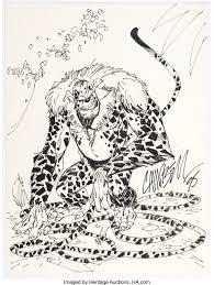J. Scott Campbell Marsupilami Sketch Original Art (1995)....   Lot #17617