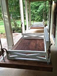 absolutely hanging bed swing daybed porch diy with rope dimension charleston twin kit