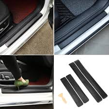 4pcs <b>Carbon</b> Fiber <b>Car Door Sill</b> Sticker None Slip Protection Film ...