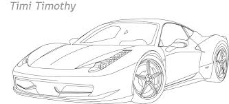 Ferrari 458 Drawing Sketch Coloring Page