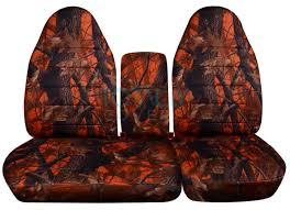 ford f 150 60 40 high back orange real tree camo seat covers