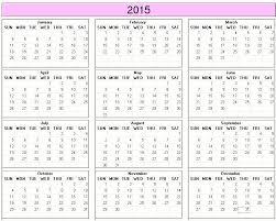 2015 Calendar Year Printable Yearly Calendar 2015 Free