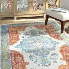 orange and blue area rug ponce distressed oriental orange blue area rug and bungalow rose ameesha orange and blue area rug