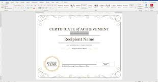 Microsoft Award Templates Create A Certificate Of Recognition In Microsoft Word