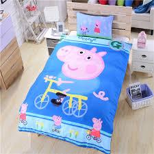 Happy Peppa Pig Bedding Bicycle Bed Sheets Gift Bedding Set for ... & Happy Peppa Pig Bedding Bicycle Bed Sheets Gift Bedding Set for Boys Duvet  Cover Set High Adamdwight.com