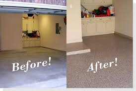 epoxy flooring garage. Before And After4epoxy 1 Color Flake/Chip Floors Epoxy Flooring Garage