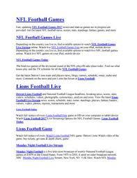 Nfl Football Games Live Stream By Sporsnews Issuu