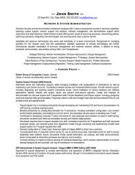systems administrator resume template    systems administrator resume template