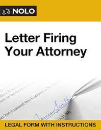 Firing Letter Letter Firing Your Attorney Legal Form Nolo