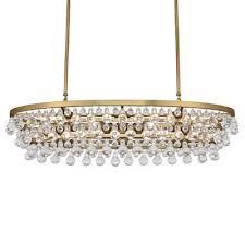 2 268 95 celeste rectangular oval glass drop crystal chandelier
