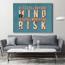 it s still worth the risk hustle motivational inspirational business office canvas art wooden frame 30x40 on inspirational business wall art with it s still worth the risk hustle motivational inspirational business