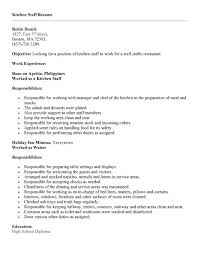 line cook resume