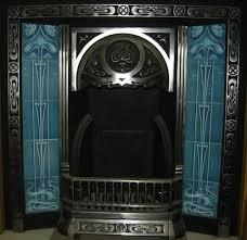 Decorative Tiles For Fireplace Gas or Decorative Turquoise Art Nouveau Fireplace Tiles Set ref 100 60