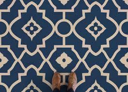 morocco moroccan style vinyl flooring blue feet vinyl