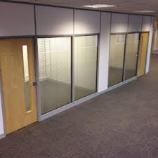 office partition walls with doors. Solid-and-glass-office-partition-walls Office Partition Walls With Doors