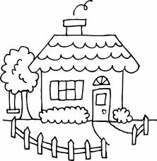 Small Picture House Coloring Page Stock Illustration Image Pages For Adults