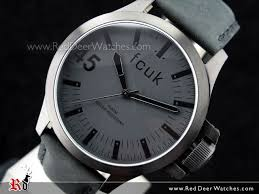 french connection men french connection watches brands french connection black dial leather strap mens watch fc1140bb