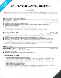 Carpenter Resume Template New Carpenter Resume Template Classy Carpenters Resume Examples And