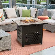 patio furniture with fire pit. Beautiful Patio Coral Coast South Isle Fire Pit Chat Set With Mosiac  Hayneedle To Patio Furniture With A