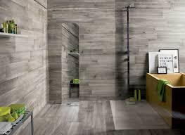 Tiled Walls 20 Amazing Bathrooms With Woodlike Tile Grey Wooden Floor 1931 by xevi.us