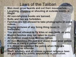 the laws of the taliban 11