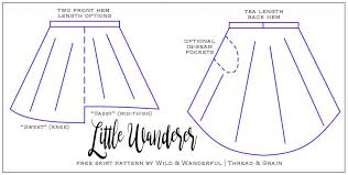 High Low Skirt Pattern Simple The Little Wanderer Skirt FREE Girls' HighLow Skirt Pattern
