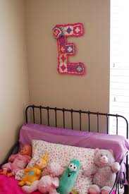 free pattern girl s room wall decor letter e