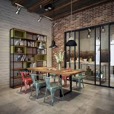 industrial style dining room lighting. 3 |; Visualizer: Dattran. Here\u0027s A Handsome Dining Room Industrial Style Lighting