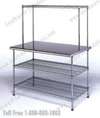 shelving storage table top metal work bench upper lower wire table top metal work bench table top metal work bench