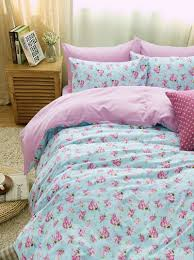 bedding bedroom teen bedding sets cute pink polka dot turquoise with lighting lamp also brown wooden cabinet for bedroom ideas
