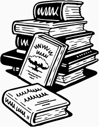 books clipart black and white unique book stack black and white