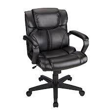 Brenton Studio Briessa Mid Back Vinyl Chair Black by Office Depot