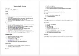 modeling resume template beginners charming modeling resumes for beginners with additional modelling
