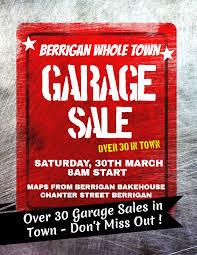2019 Community Garage Sale Flyer Poster Better In Berrigan